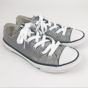 Converse All Star metallic silver low tops